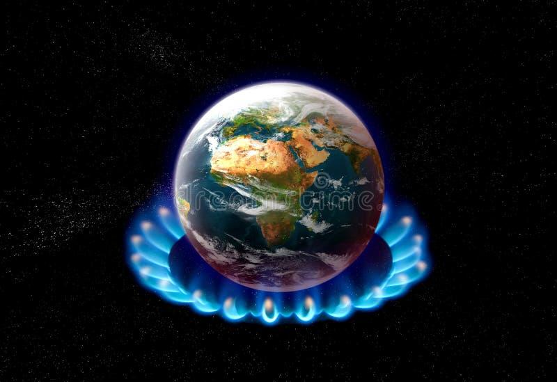 Calentamiento del planeta fotografía de archivo
