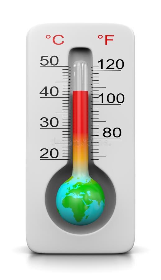 Calentamiento del planeta ilustración del vector