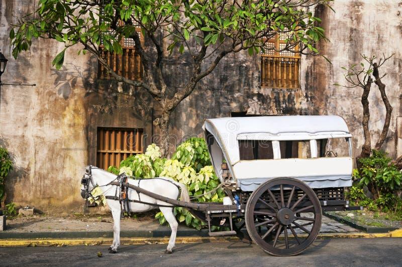 Calesa hippomobile, Manille - Philippines photographie stock libre de droits