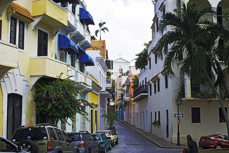 Caleta de las monjas, gamla San Juan, Puerto Rico arkivbild