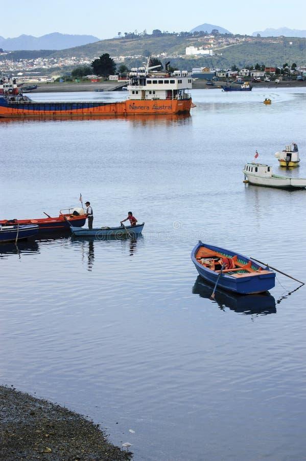 Caleta de Puerto Montt de Angelmo, o Chile imagem de stock royalty free