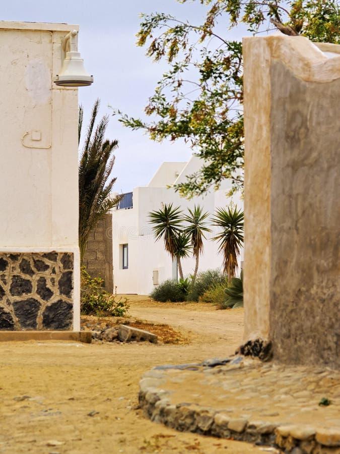 Caleta Del Sebo, Graciosa-Insel stockbilder