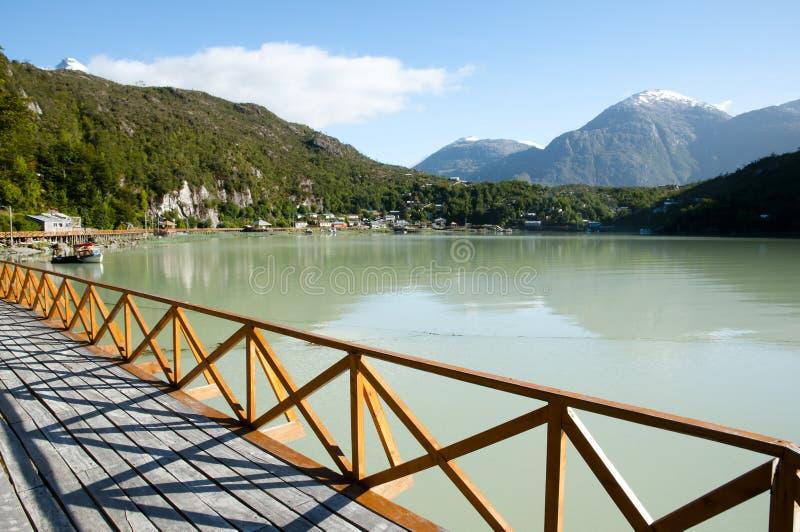 Caleta Tortel - Chile arkivbilder