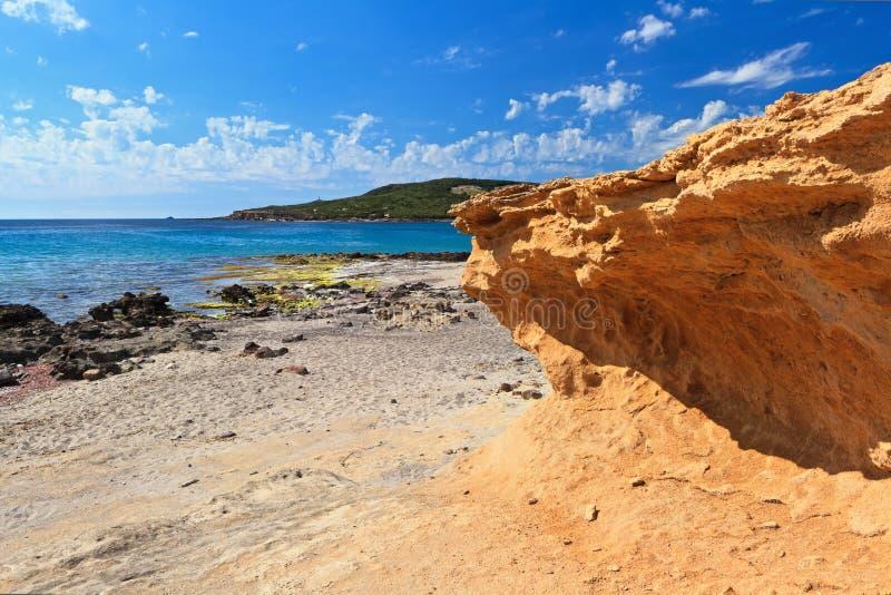 Caletta海滩-圣彼得罗海岛 库存图片