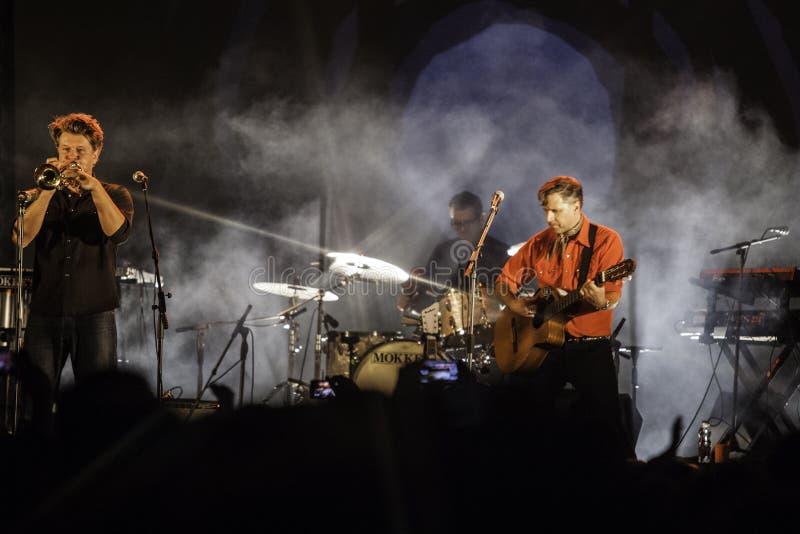Calexico生活音乐会在意大利, Ariano irpino 免版税图库摄影
