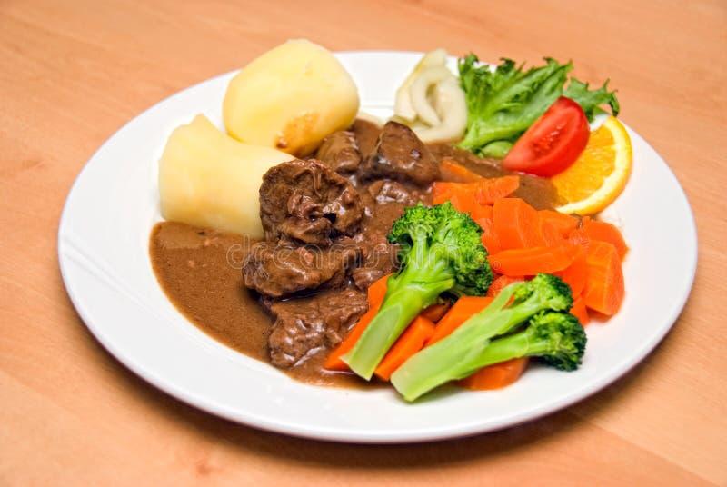 Calf goulash stock photography