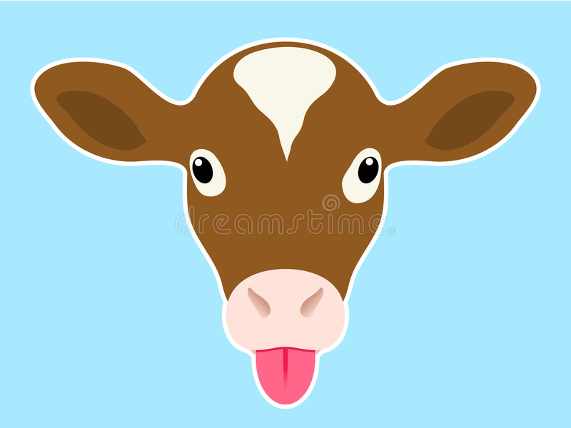 Download Calf Head Sticking Out Tongue Stock Vector - Illustration: 7603863
