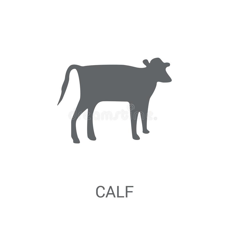 Calf icon. Trendy Calf logo concept on white background from animals collection royalty free illustration