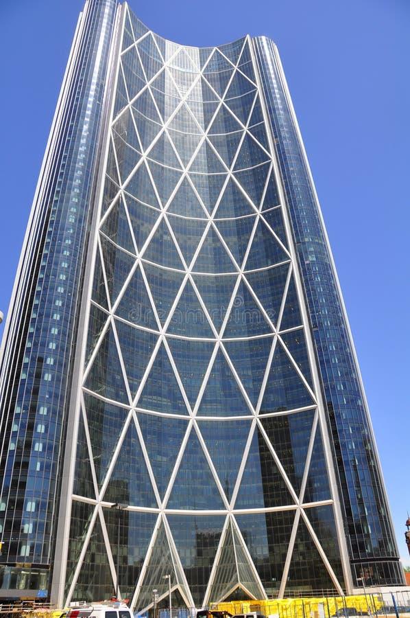 Calgary, Bogen-Kontrollturm stockfotos