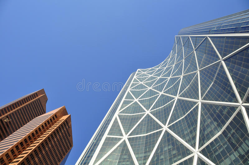 Calgary, Bogen-Kontrollturm stockfoto