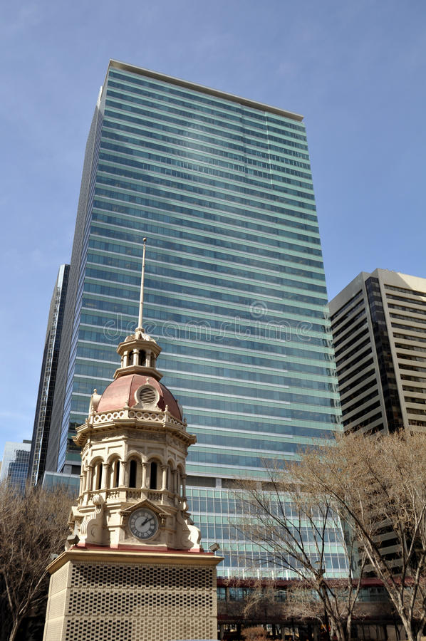 Calgary-Borduhrgrenzstein lizenzfreie stockfotografie