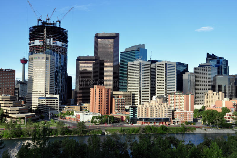 Calgary, Bow River royalty free stock image