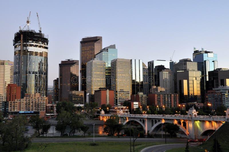 Calgary, Bow River royalty free stock photography