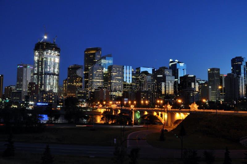 Calgary, Bow River stock photography