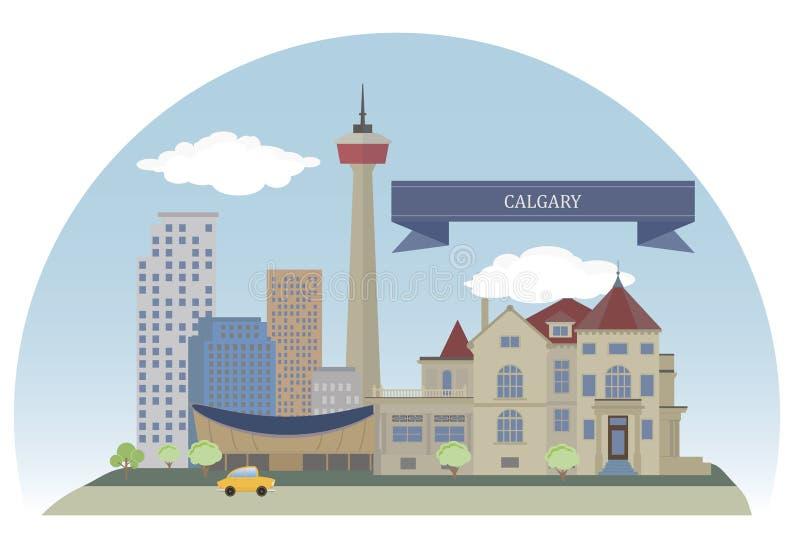 Calgary, Canada. Calgary. City in the province of Alberta, Canada vector illustration