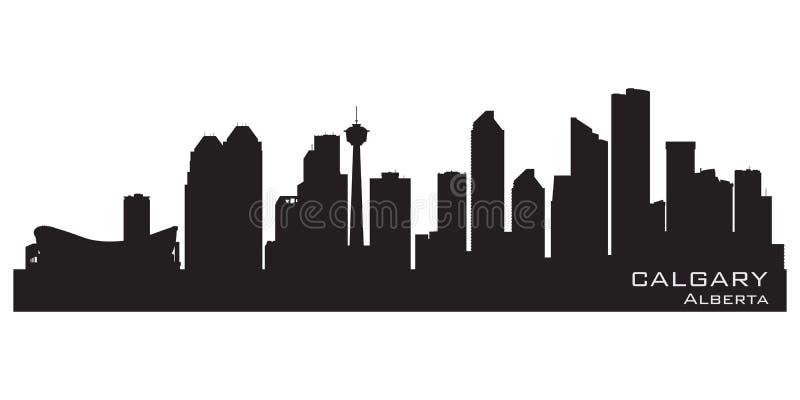 Calgary, Canada skyline. Detailed silhouette. Vector illustration vector illustration