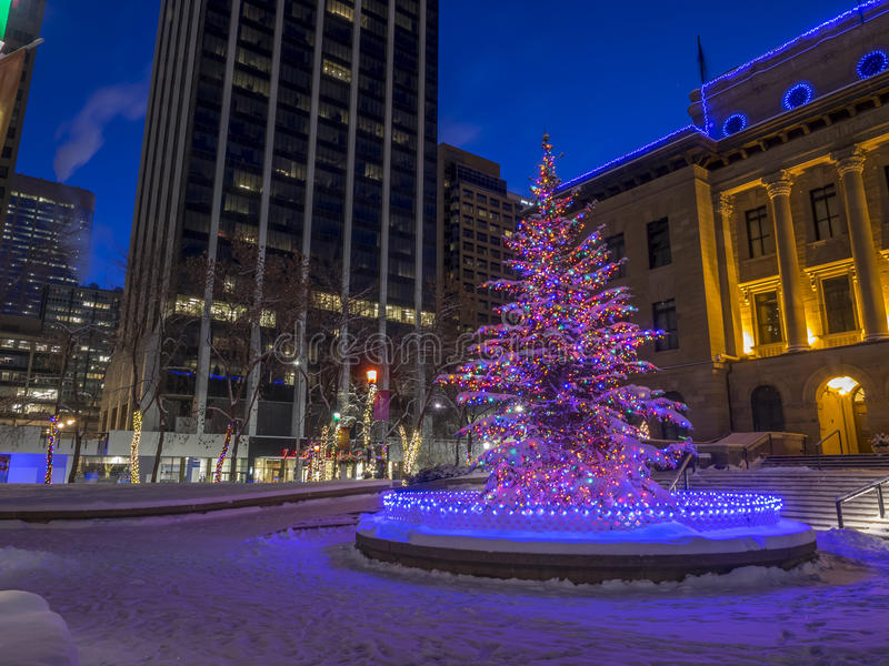 Christmas In Calgary Canada.Calgary At Christmas Editorial Image Image Of Canada 83154010