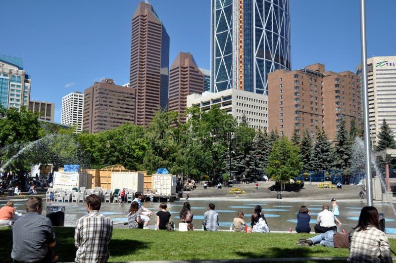 Calgary city park royalty free stock photos