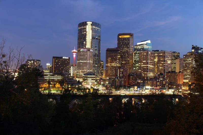 Calgary de stad in royalty-vrije stock afbeeldingen