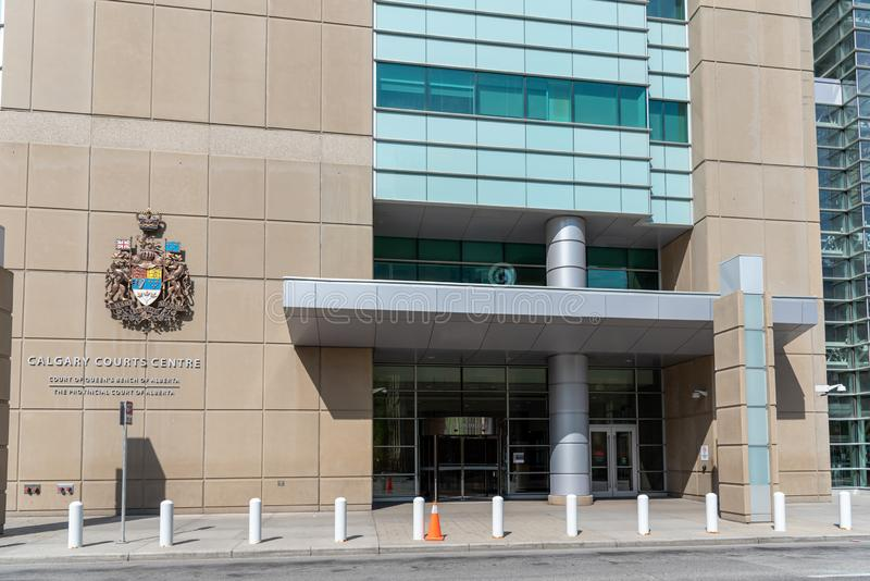 Calgary domstolar centrerar, Calgary Alberta arkivfoto
