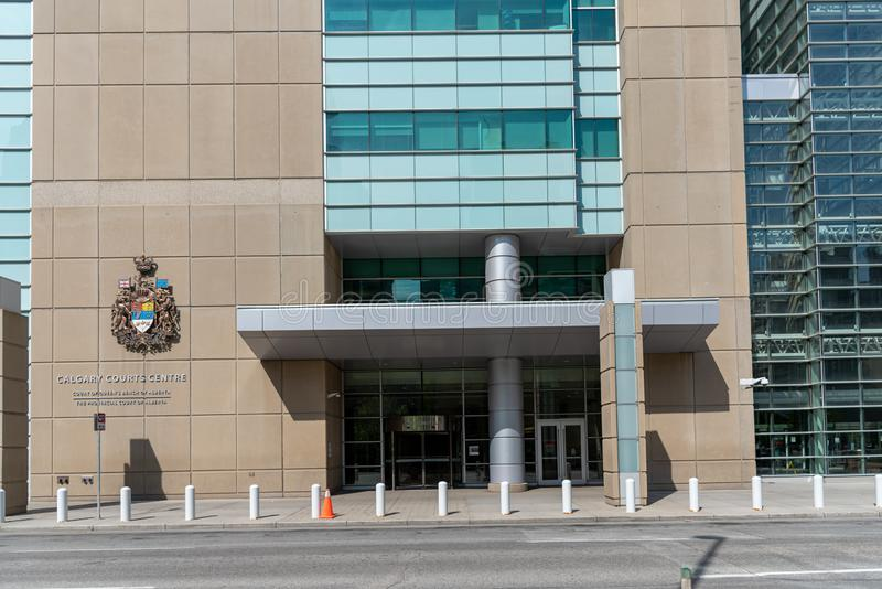 Calgary domstolar centrerar, Calgary Alberta royaltyfria foton