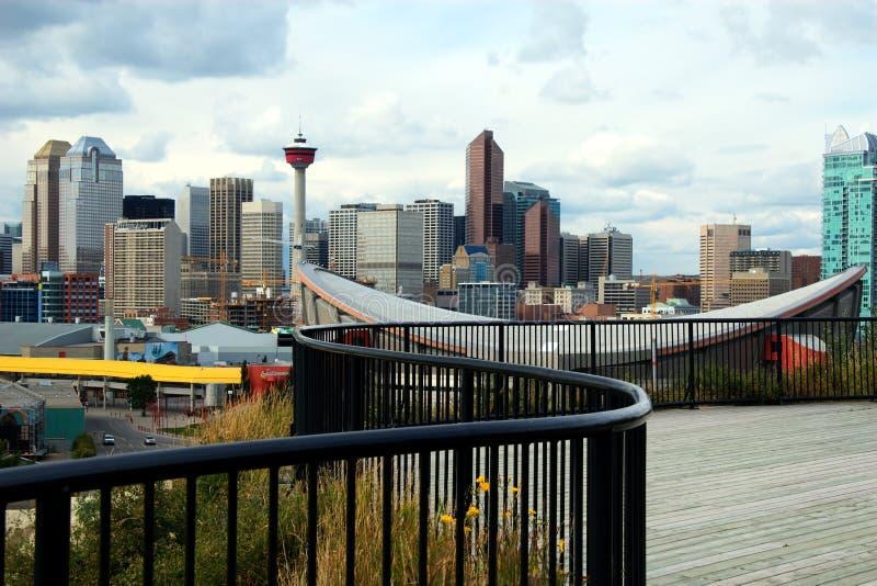 Calgary Downton en cN-Toren royalty-vrije stock afbeeldingen
