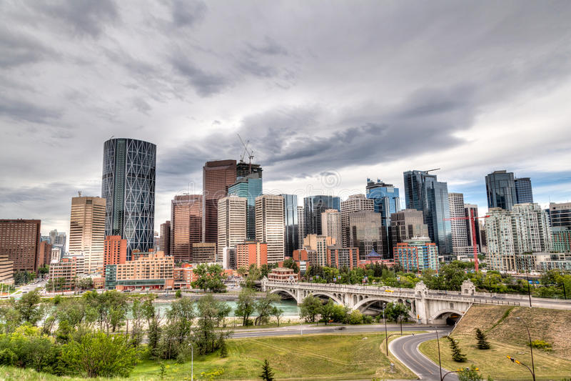 Calgary Downtown in HDR stock image