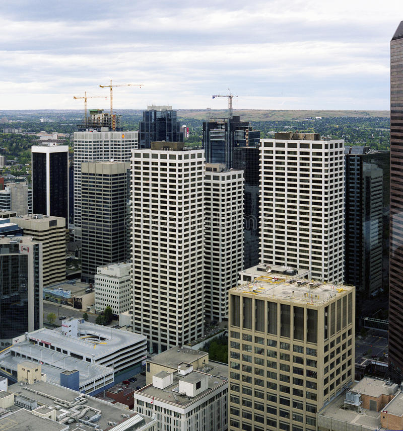 Calgary du centre images libres de droits