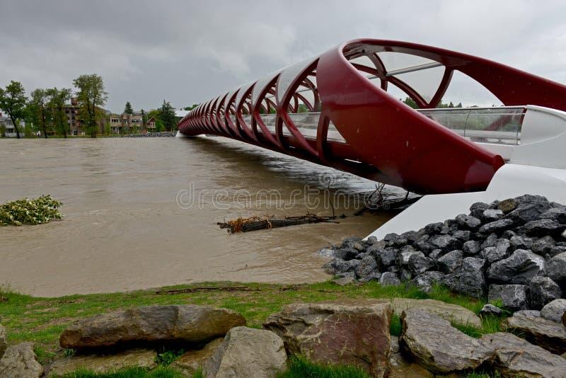 Calgary-Flut 2013 stockbild