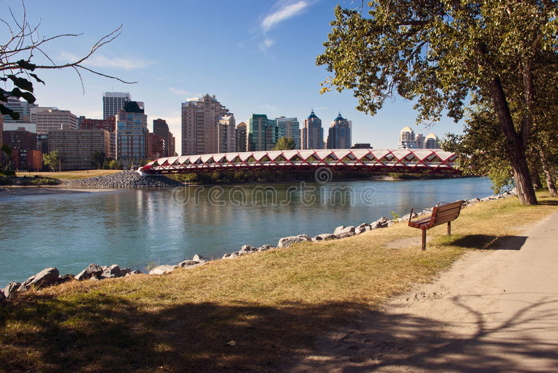 Calgary fot- bro arkivbild