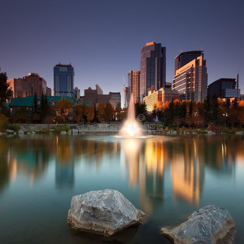 Calgary im Stadtzentrum gelegen stockbilder