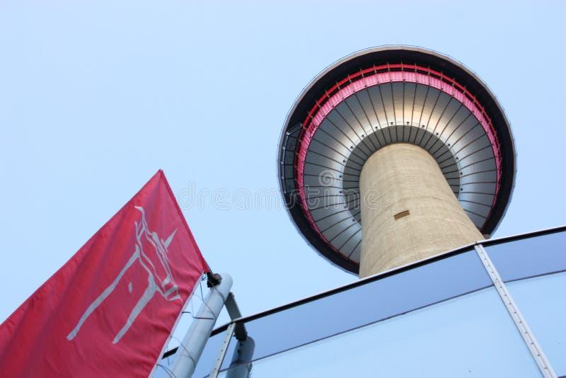 Calgary-Kontrollturm-Touristenattraktion lizenzfreie stockfotografie