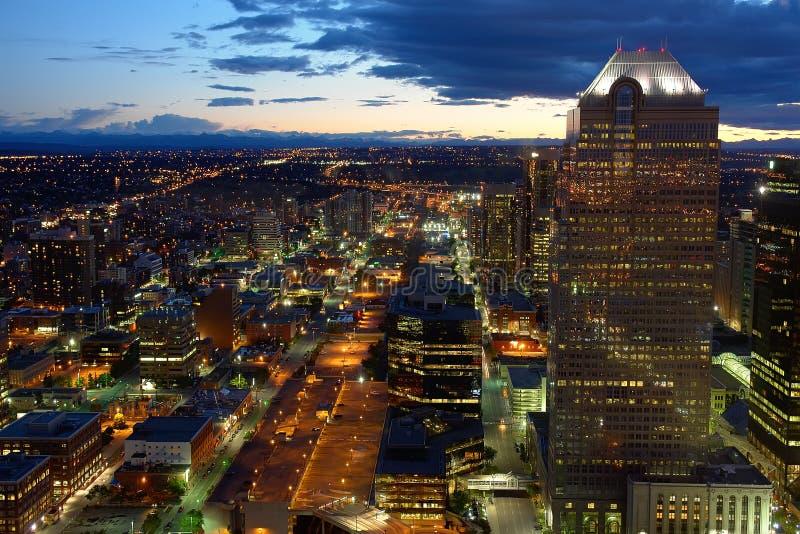 Download Calgary at night stock photo. Image of northern, alberta - 38184696