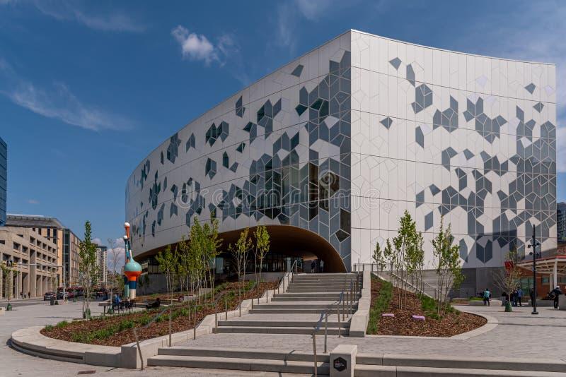 Calgary offentligt bibliotek fotografering för bildbyråer