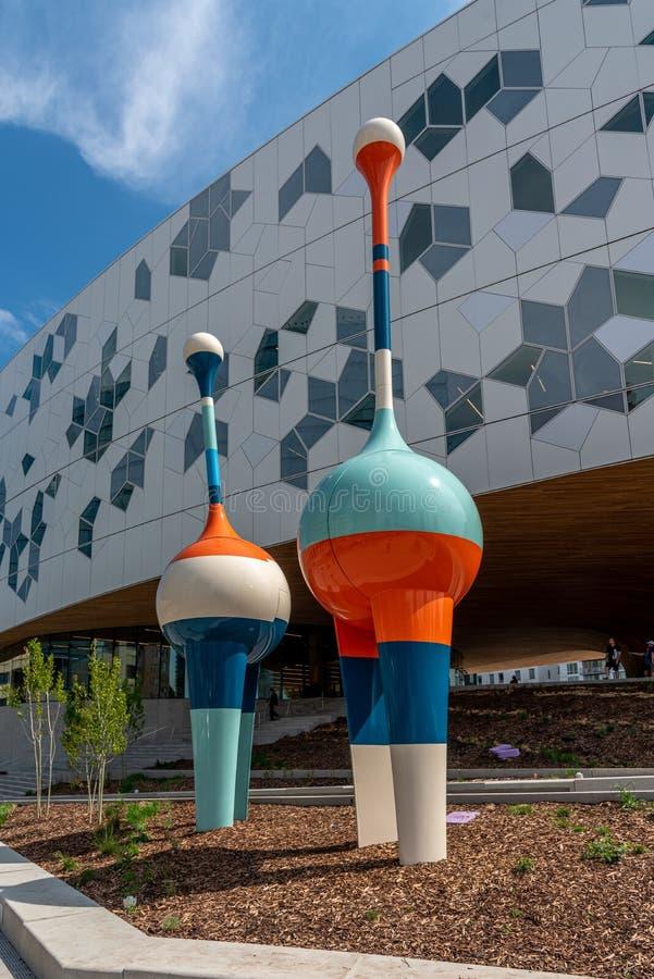 Calgary offentligt bibliotek arkivfoton