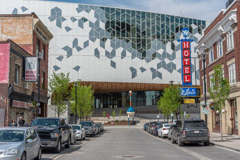 Calgary offentligt bibliotek arkivbilder