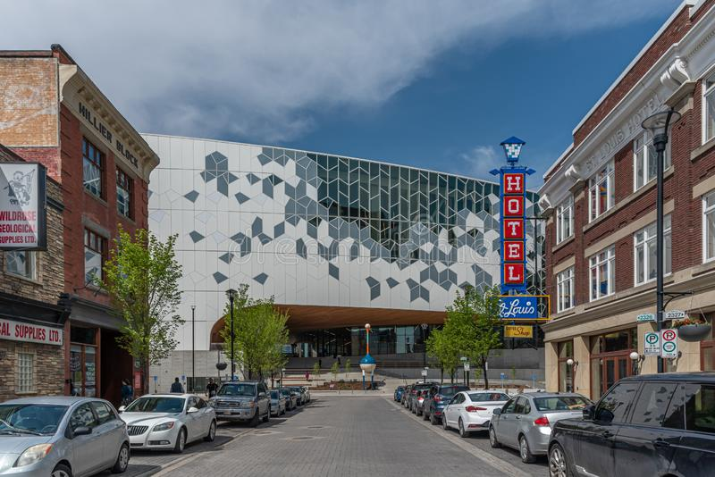 Calgary offentligt bibliotek royaltyfri foto