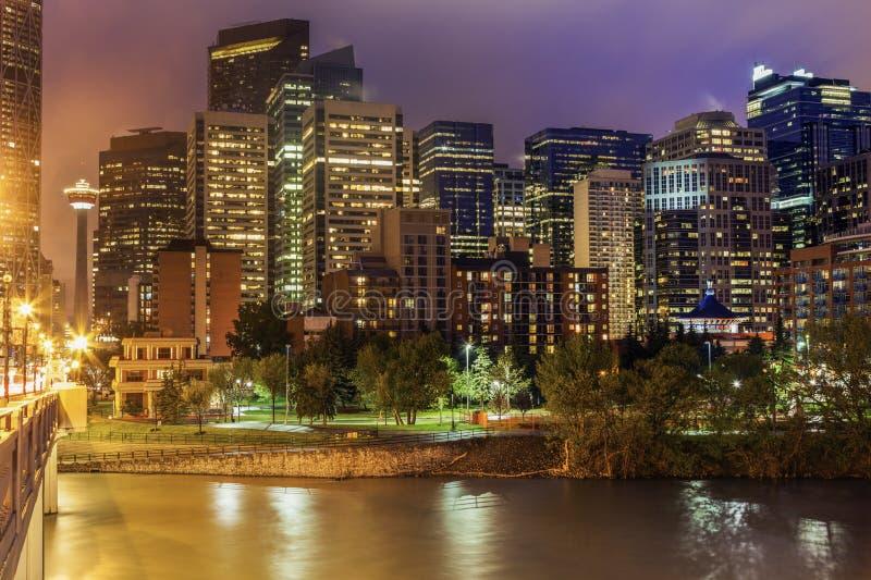 Calgary - panorama av staden royaltyfri foto