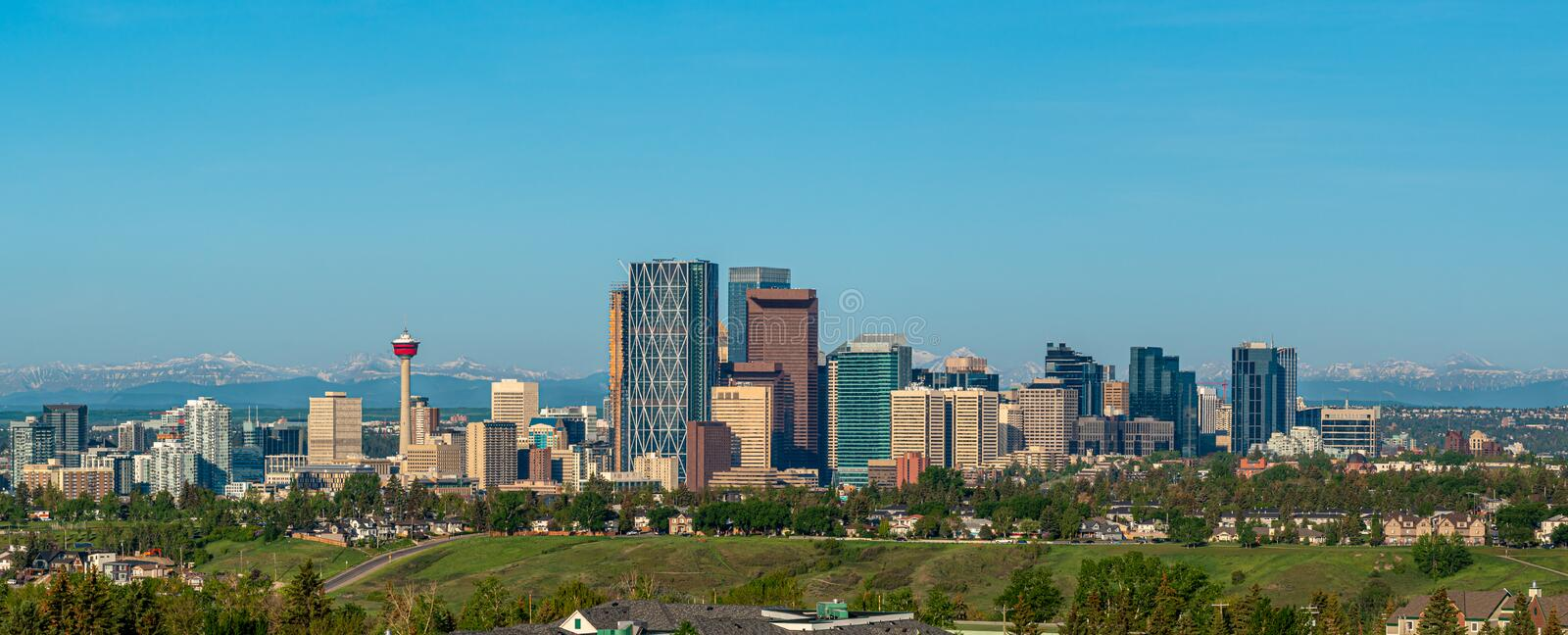 Calgary - panorama of city royalty free stock photos