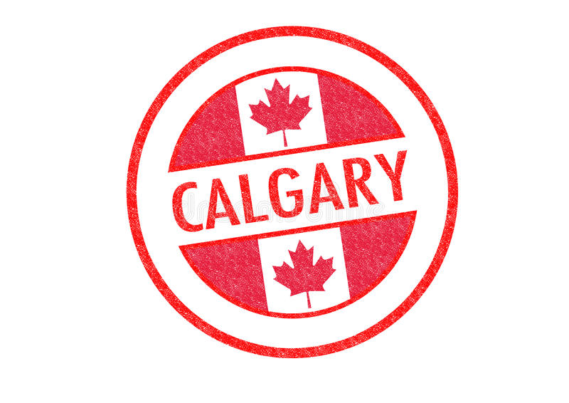 CALGARY. Passport-style CALGARY rubber stamp over a white background royalty free illustration