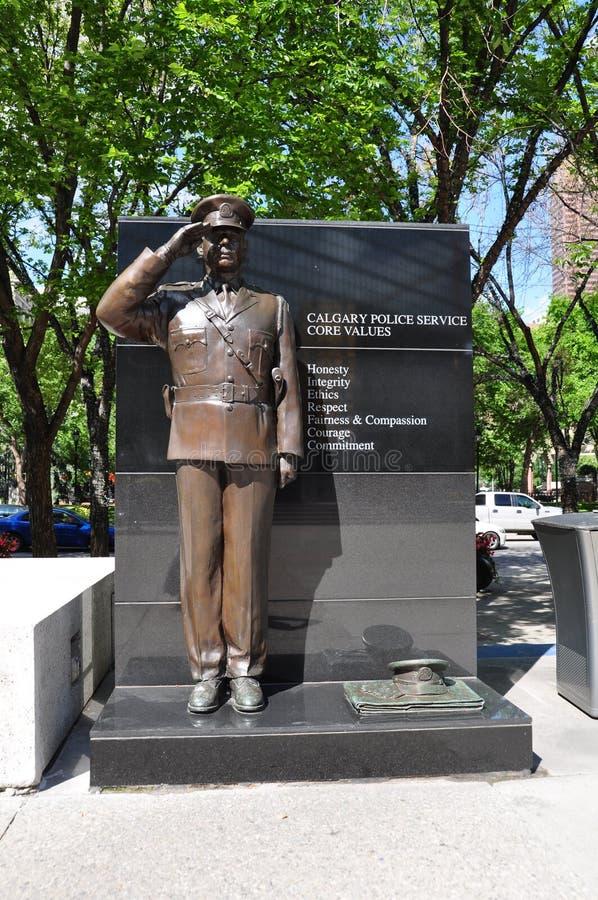 Calgary Police Services statue stock photos