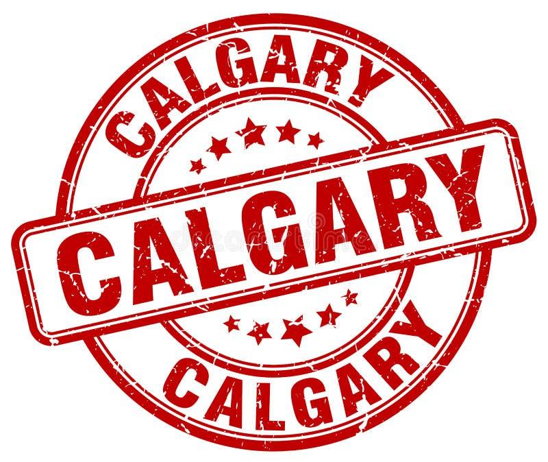 Calgary stamp. Calgary round grunge stamp isolated on white background. Calgary royalty free illustration