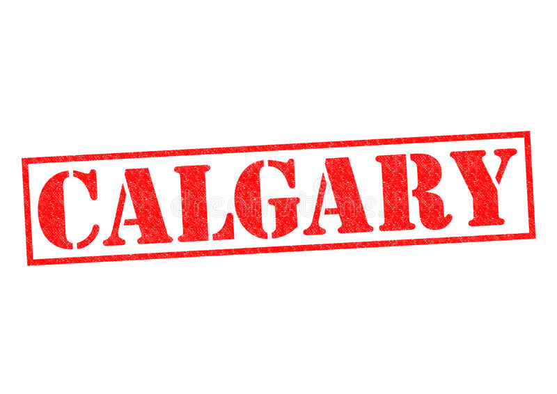 CALGARY. Rubber Stamp over a white background royalty free illustration