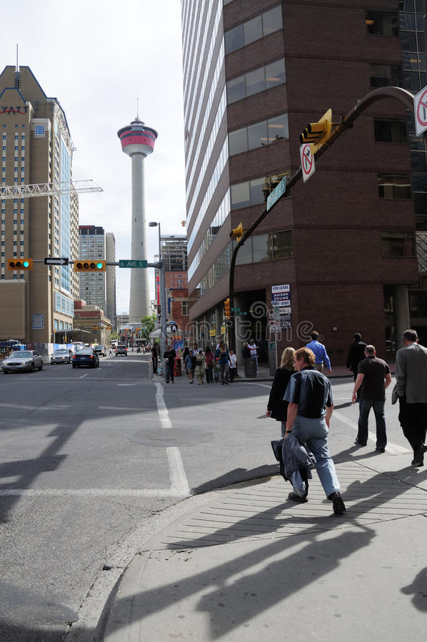 Calgary ` s śródmieście Kanada fotografia stock