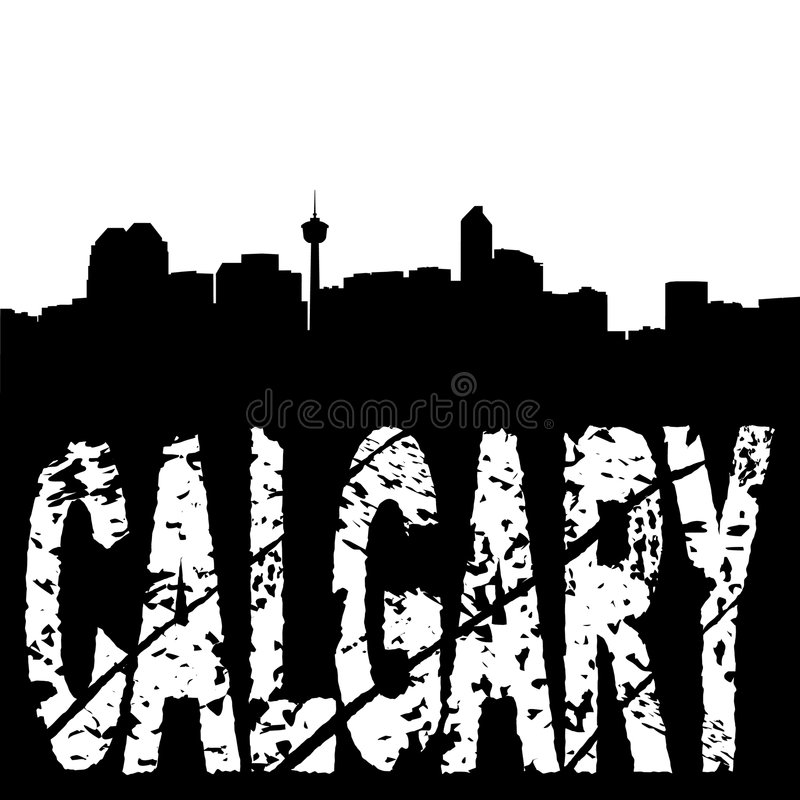 Download Calgary Skyline Grunge Text Stock Illustration - Image: 7628207