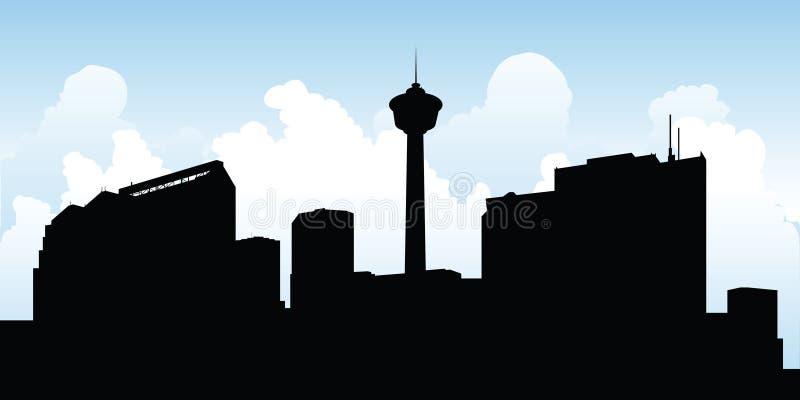 Calgary Skyline. Skyline silhouette of the city of Calgary, Alberta, Canada royalty free illustration