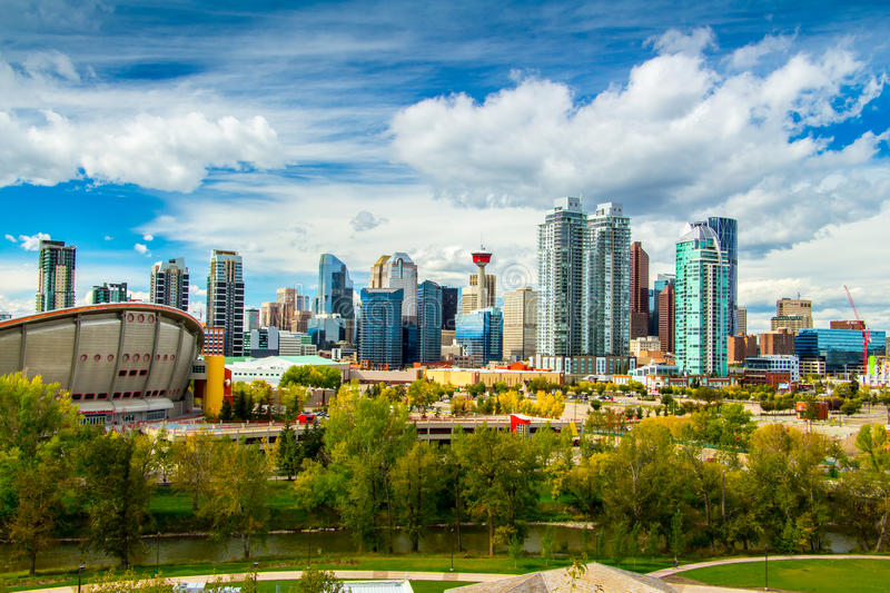 Calgary Skyline stock photography