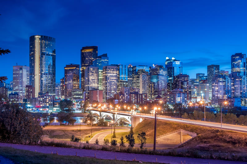Download Calgary Skyline stock image. Image of skyscraper, clouds - 39505507