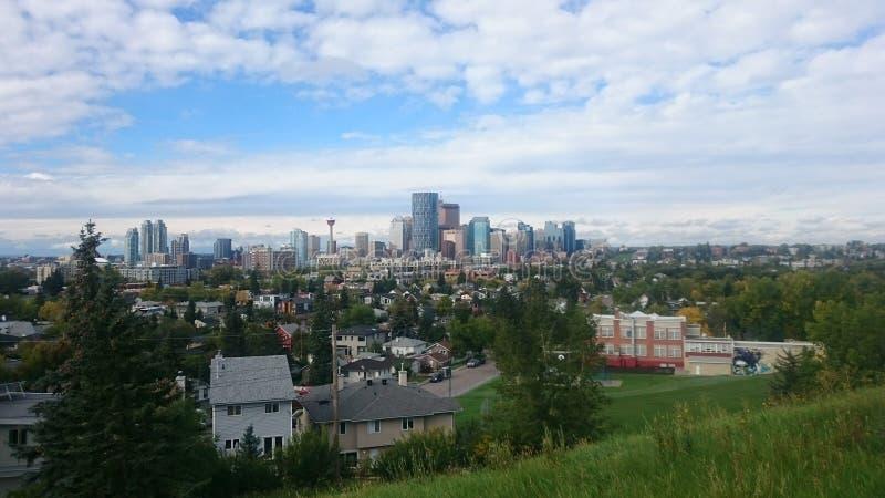Calgary skyscrapers stock photo