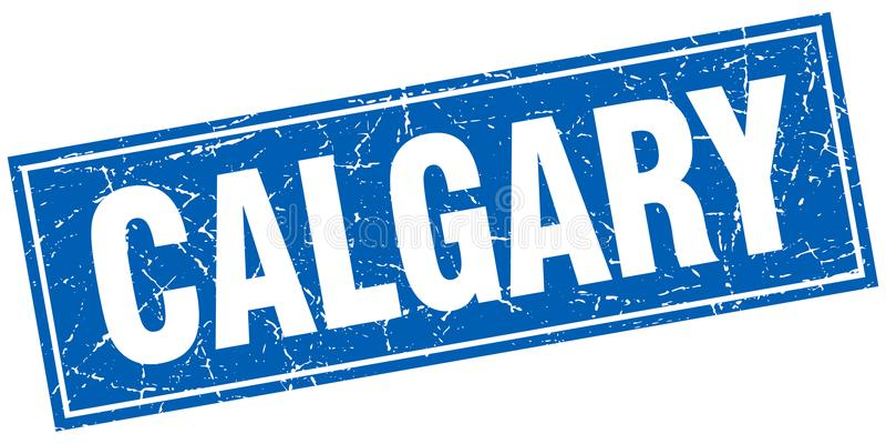 Calgary stamp. Calgary square grunge stamp. Calgary sign. Calgary stock illustration